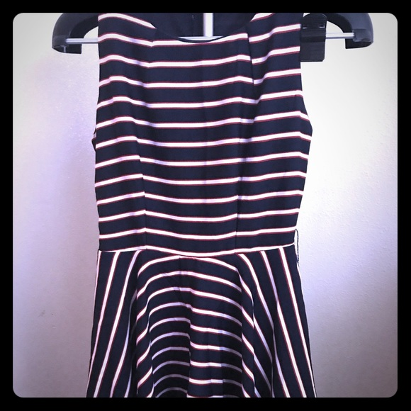 Papaya Dresses & Skirts - Blue dress with white and red stripes